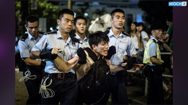 News video: Hong Kong Police Charge Pro-democracy March Organizers